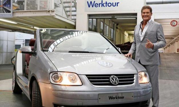 David Hasselhoff besucht Wolfsburg