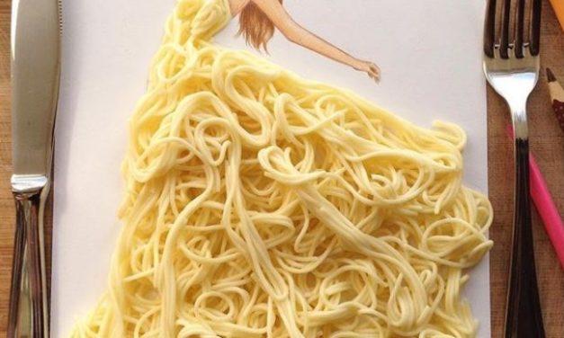Instagrammer edgar_artis kreiert Modezeichnungen aus Lebensmitteln