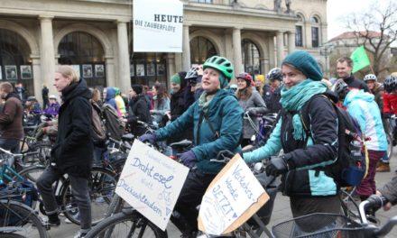 Hannoveraner radeln für ein besseres Klima durch die City