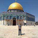 Tilman unterrichtet in Palästina Posaune