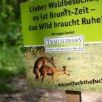Sexplakat soll für Ruhe im Wald sorgen