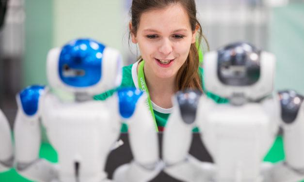 Kampf der Roboter: Schüler messen sich mit ihren Erfindungen
