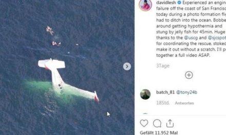 Instagram-Star stürzt mit Flugzeug ins Meer – und filmt seine Rettung