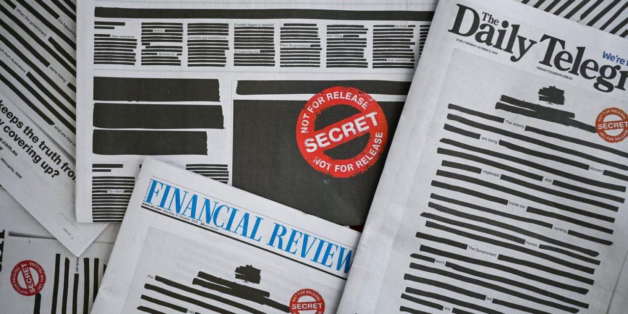 Australiens Zeitungen protestieren mit geschwärzten Titelseiten