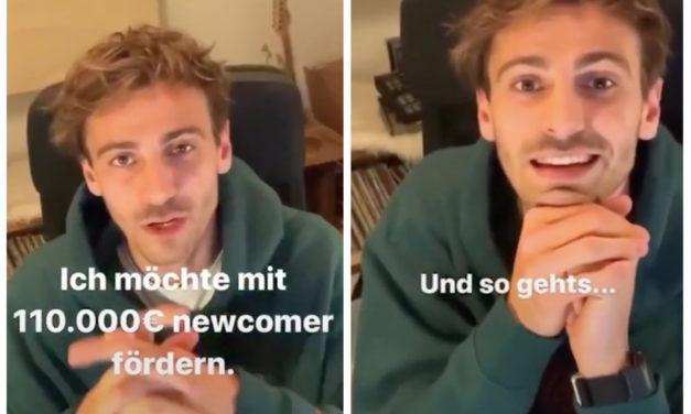 Darum spendet Fynn Kliemann 110.000 Euro an Newcomer