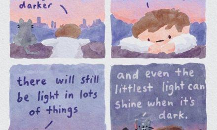 Das Schöne in allen Zweifeln: @swatercolour muntert mit Comics auf