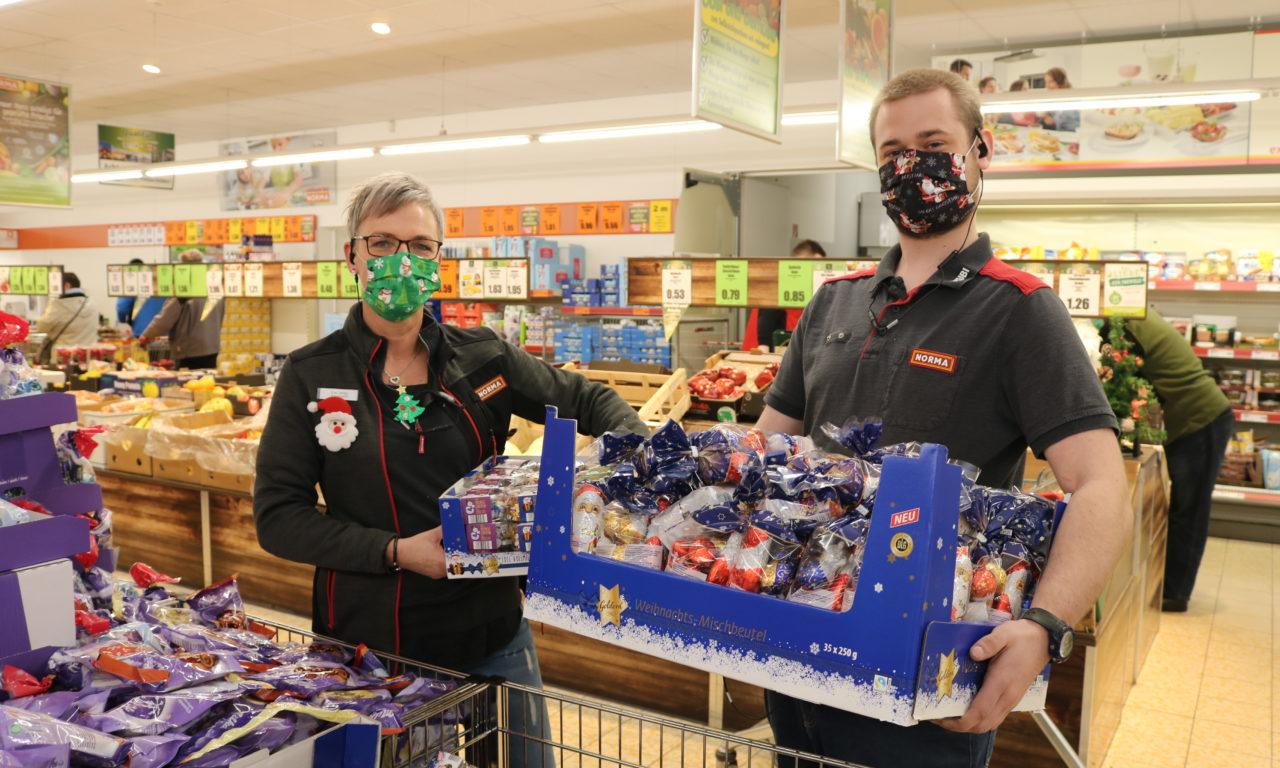 Stralsund: Halbmarathon im Norma-Supermarkt