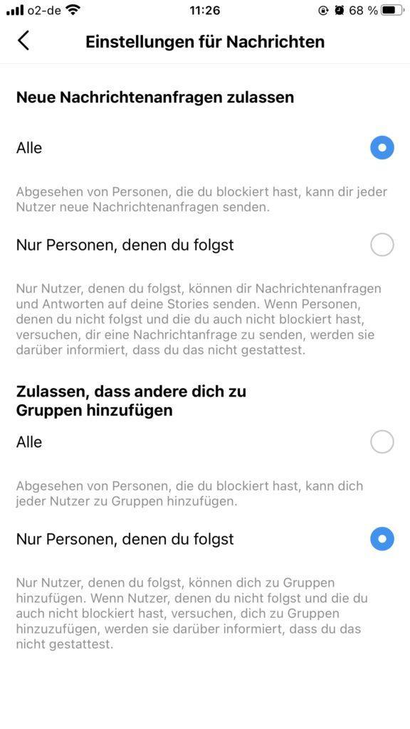Chat bei weg blockieren instagram 🎖▷ Was